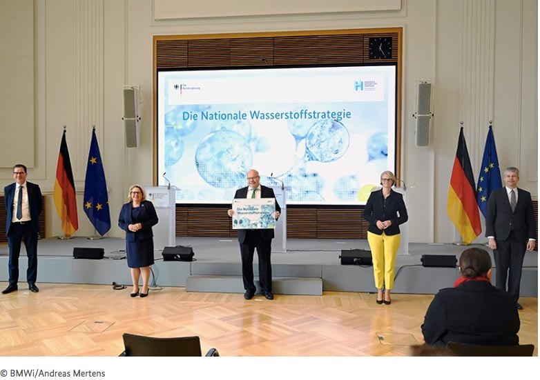 German government presenting their hydrogen strategy